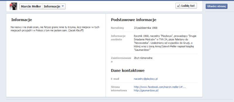 Marcin Meller linkuje stronę na potrzeby seo